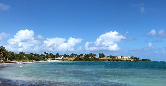 Saint George, Antigua: The view from Cecilia's is perfect!
