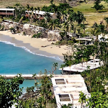 The devastation on Caneel Bay is still apparent and absolutely heartbreaking!!