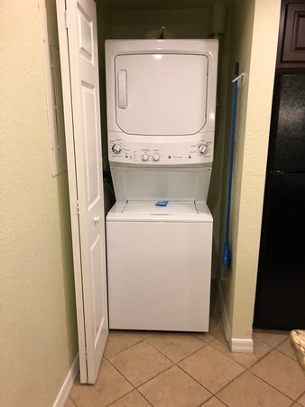 Washer/Dryer combo in kitchen alcove