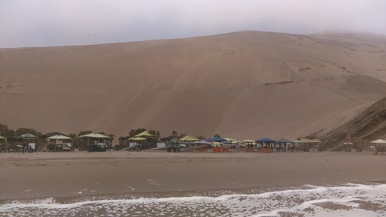 Chacra y Mar, Peru: Beach - fphoto taken from the sea