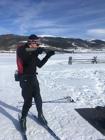 Tabernash, CO: Mini-Biathlon provides a taste of what it takes to ski and shoot in the same breath (or lack the