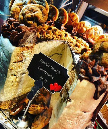 Eccles, UK: Our delicious cookie dough cheesecake eat in or cakeaway
