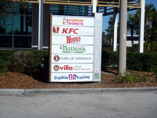 Map Of Florida Turnpike Service Plazas.Directory Of Restaurants At Fort Drum Service Plaza On The Florida