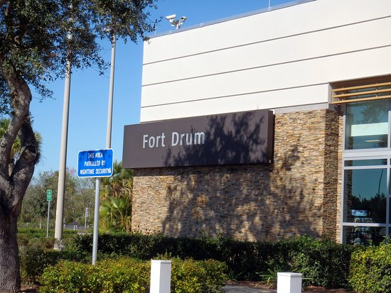 sign for Fort Drum service plaza - Picture of Dunkin
