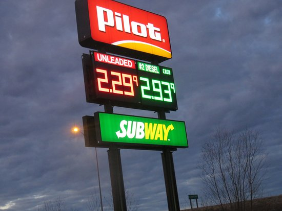 Marston, MO: sign for Subway in the Pilot Travel Plaza