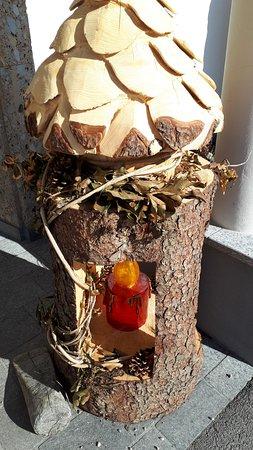 Lunz am See, Austria: Vstupní dekorace u vstupu do hotelu