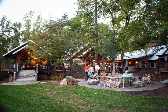 Dancing Bear Lodge: Our beautiful restaurant patio and event spaces