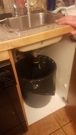 Fairmont Hot Springs, Kanada: fancy repair to leaking sink