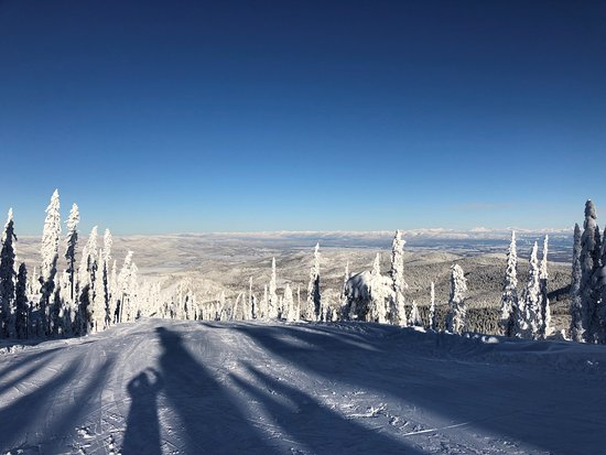 """Lakeside, Монтана: Top of """"Meadow"""" run at Blacktail."""