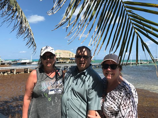 Monica, Joe and Kerry on our way to the Palapa Bar and Grill