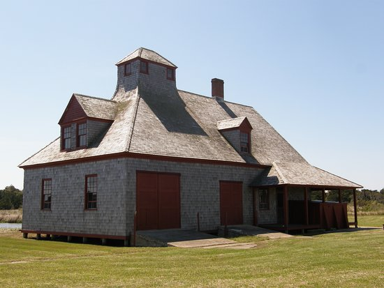 Portsmouth Village: Portsmouth's old life-saving station is one of the few buildings open to the public.