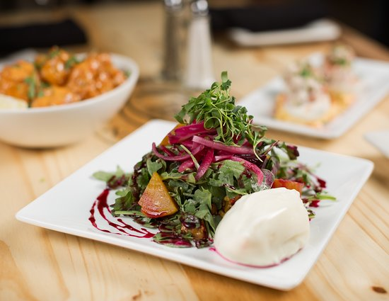 Lake Zurich, IL: Beet & burrata salad -- a house favorite.
