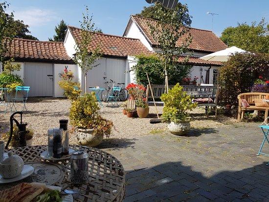 Stradbroke, UK: The courtyard.