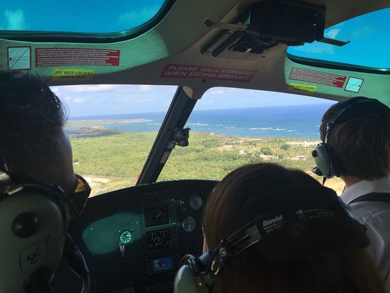 Cap Estate, Saint Lucia: Helicopter transfer
