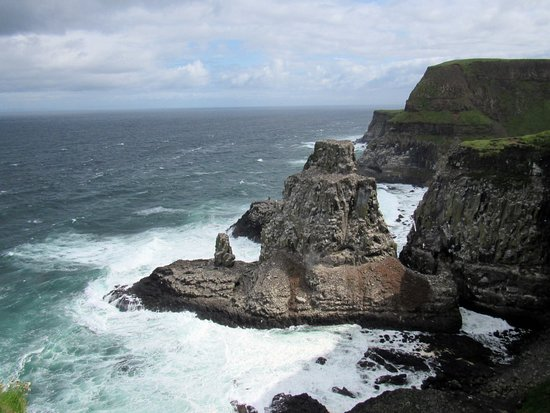 Rathlin Island, UK: View of the stacks