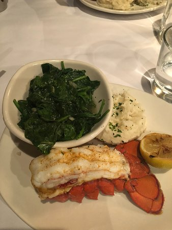 Glen Burnie, MD: Cold Water Lobster Tail, Sautéed Spinach, Mashed Potatoes