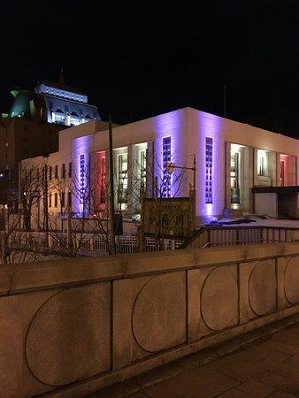 Former Nihon Bank Kushiro Branch: ライトアップされた旧日本銀行釧路支店