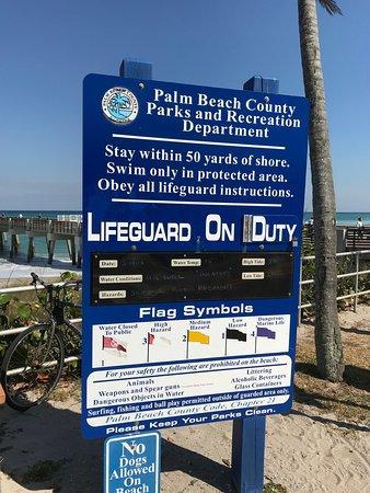Juno Beach, FL: beach status