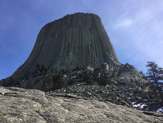 Devils Tower, WY: Base of Devil's Tower near visitor's center.