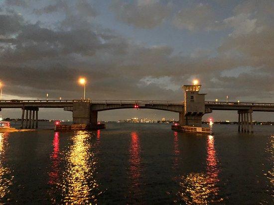 John Ringling Cauy Raised Draw Bridge In Sarasota Florida
