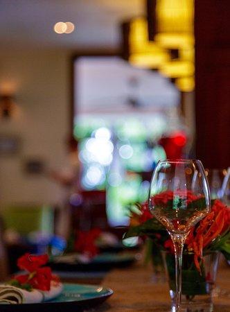 Au Cap, Seychellerna: Table setting...