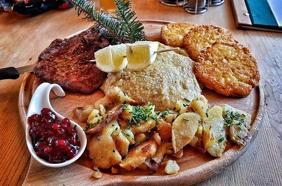 I Tabla : Costicine di Cervo (300gr) polenta, rosti e patate spadellate