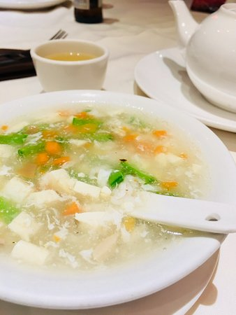 Pacific: Mixed seafood & bean curd soup