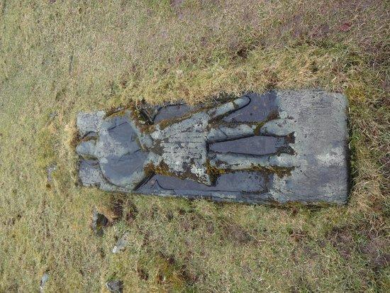 Skeabost, UK: Vieille sépulture