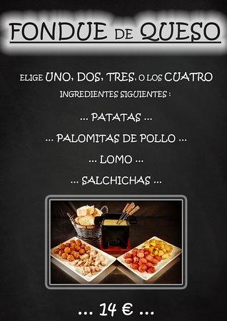 fondues de queso... restaurante la font Fuentespalda