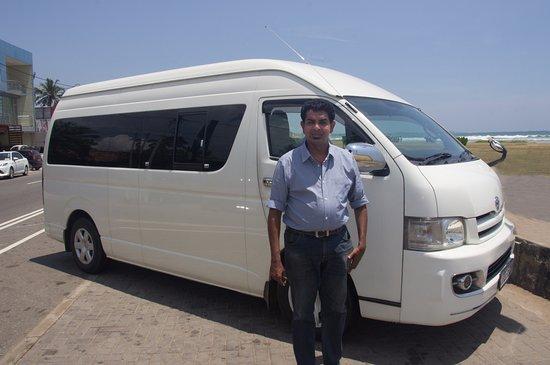 Maharagama, Sri Lanka: Harsh and our transport