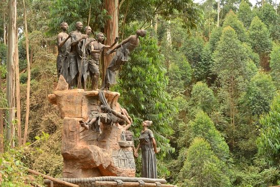 Rukungiri, Uganda: The Kisiizi Monument....a snapshot of the historical transformation in this region.