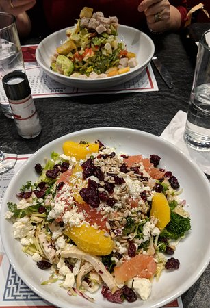 Planet Hollywood : Salads - Citrus salad at the front (delicious)