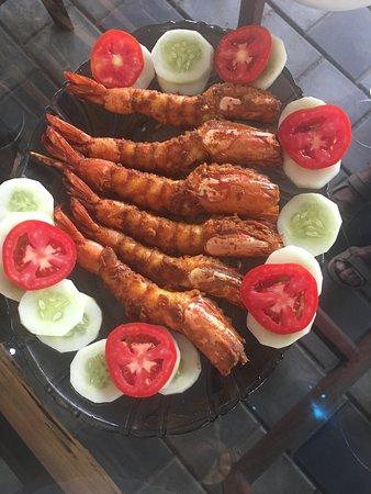 Kavvayi Beach House: Lunchtime prawns