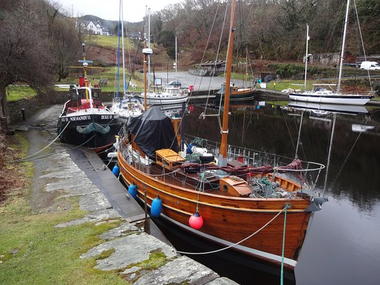 Argyll and Bute, UK: Port de Crinan, mars 2018