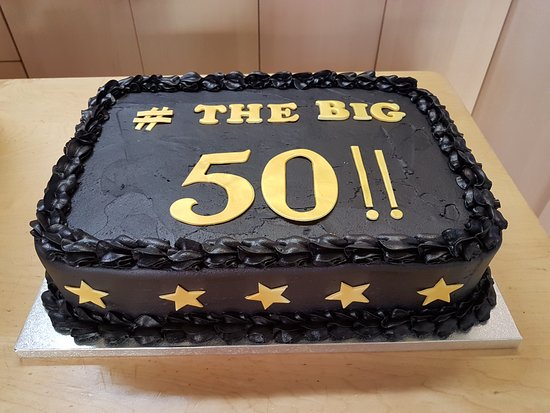 Enjoyable The Big 50 Birthday Cake Picture Of Sponge And Cream London Personalised Birthday Cards Veneteletsinfo