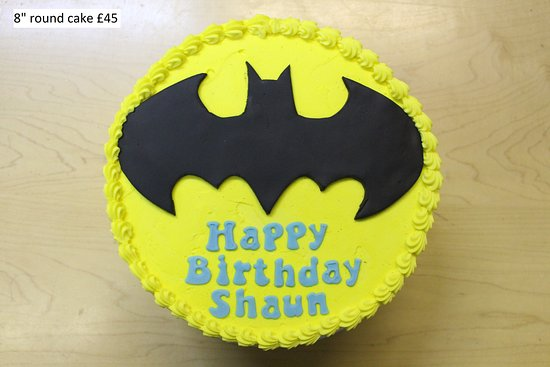 Prime Batman Birthday Cake Picture Of Sponge And Cream London Personalised Birthday Cards Veneteletsinfo