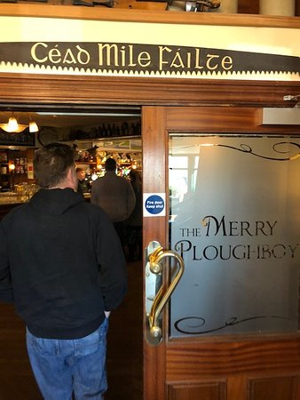 Rural Pub Tours: Entrance to Merry Ploughboy