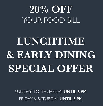 Bagshot, UK: 20% food bill