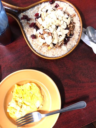 Adrian, MI : Daniel's oatmeal and eggs.