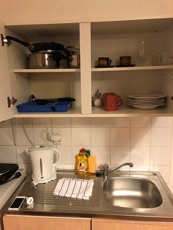 Pushkin Apartments: Cocina equipada.