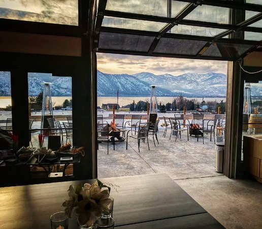 Manson, WA: The view from the tasting room (winter).