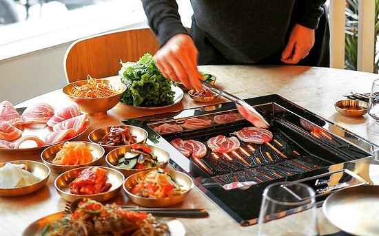 Korean Barbecue, Pork belly barbecue - Picture of Restaurant
