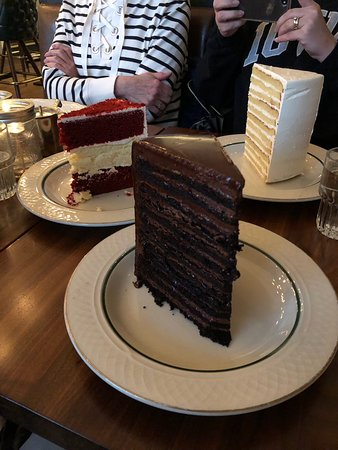 24-layer chocolate and vanilla cakes, red velvet cake with ...