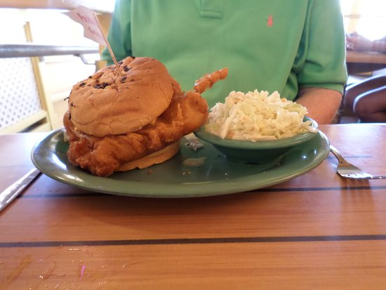 Frenchy's South Beach Cafe : fried grouper large portion