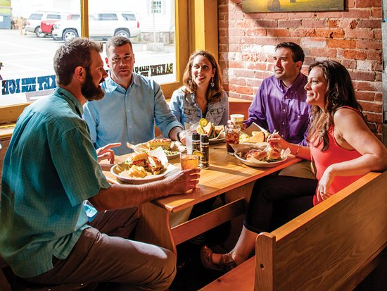 Restaurant choices in Downtown Blue Ridge range from small and casual to chic and upscale.