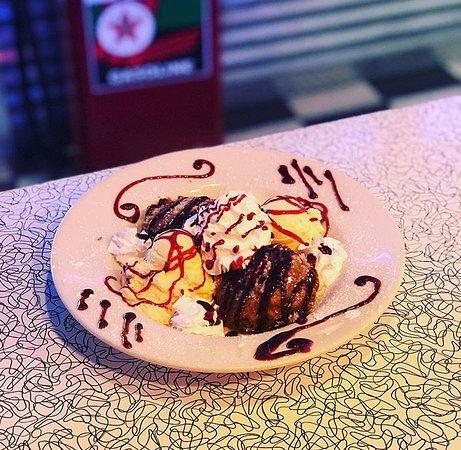 Alcoa, TN: Fried Moon Pie Sundae with Raspberry Sauce Drizzle