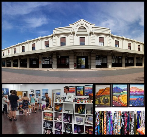 Local arts and crafts located in Port Augusta Railway Station building.