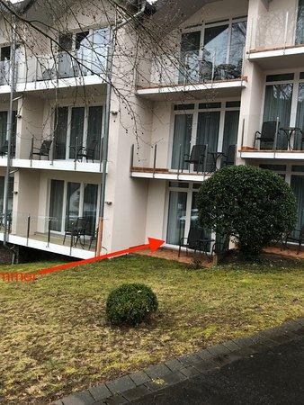 Moselstern Parkhotel Krahennest: Der angebliche Balkon