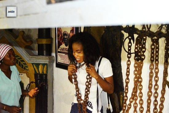 Badagry, ไนจีเรีย: slave chains