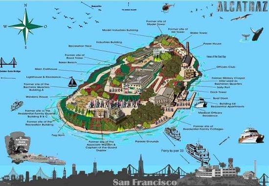 alcatraz island map sf - Bild von Alcatraz Tours, San Francisco ...